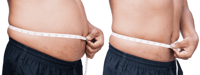 meter around the abdomen-fat man-Change weight