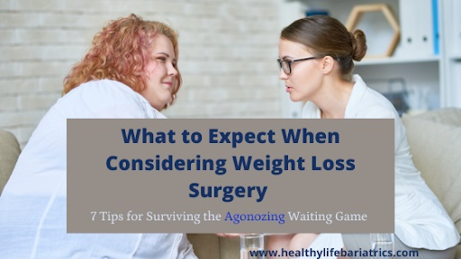 Two women consulting for weight loss surgery
