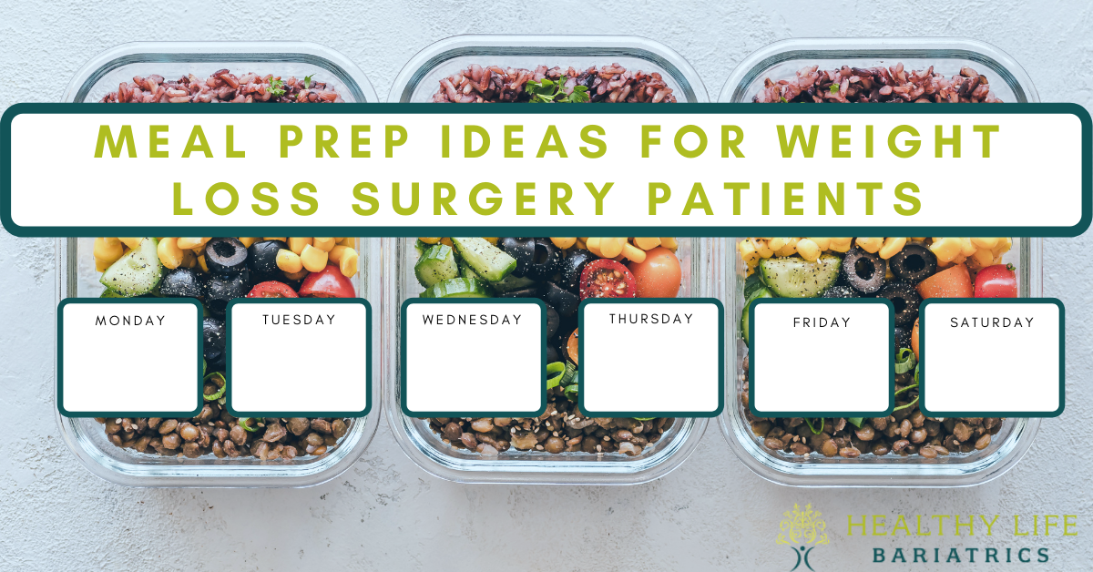 Meal Prep Ideas for Bariatric Patients